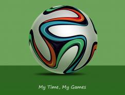 2014巴西世界杯比赛用足球PSD素材
