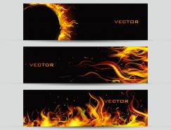 火焰背景装饰Banner矢量素材