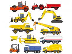 11个工程车辆矢量素材
