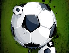 足球背景海报设计矢量素材