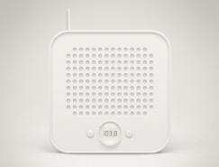 极简风格收音机PSD素材