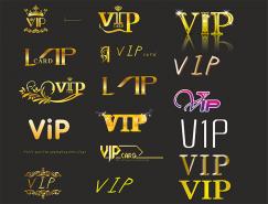 金色VIP卡字體矢量素材