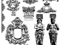 維多利亞風格的裝飾元素矢量素材(3)