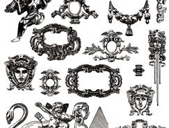 維多利亞風格的裝飾元素矢量素材(4)