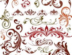 各种装饰花纹矢量素材