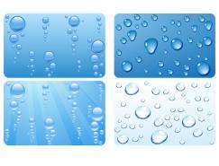 透明水滴背景矢量素材(1)