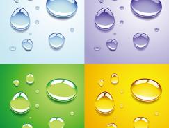 透明水滴背景矢量素材(3)