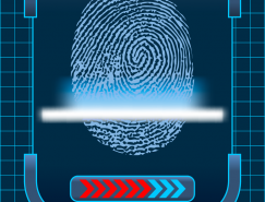 指紋掃描設計矢量素材
