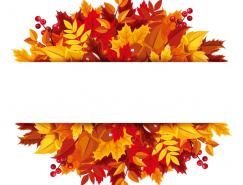 漂亮的秋葉背景矢量素材