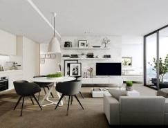国外现代简约风格公寓室内皇冠新2网