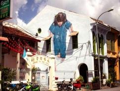 Ernest Zacharevic创意街头艺术作品