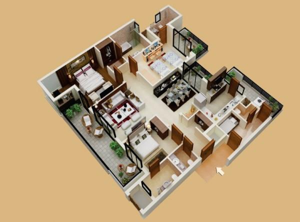 3 Bedroom Apartment Floor Plans Pdf