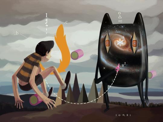 Alejandro Sordi超现实主义插画作品