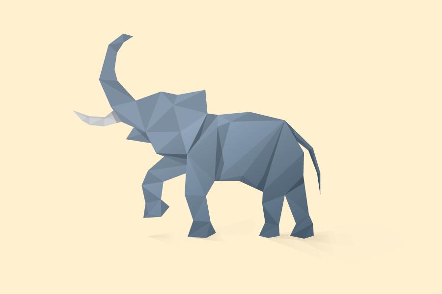 anderson创意多边形动物插画作品