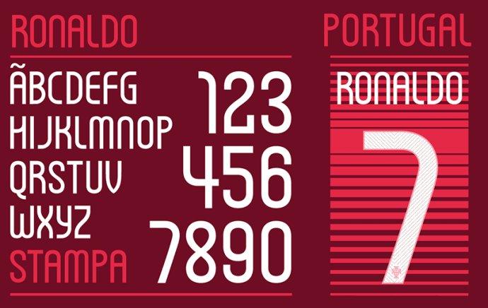 耐克為世界杯設計字體