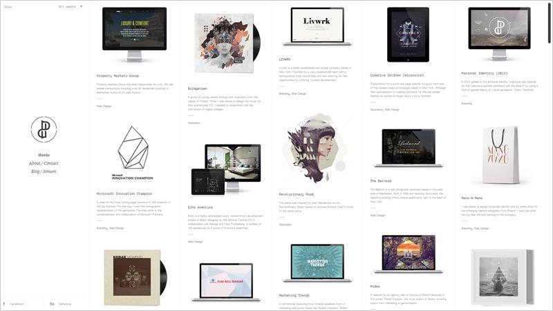多栏布局的网站设计欣赏