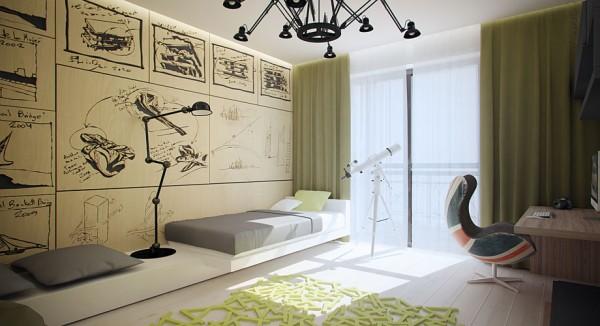效果图欣赏:现代极简风格三口之家 - 设计之家