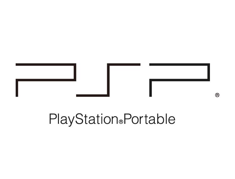 索尼psp游戏机logo标志矢量图