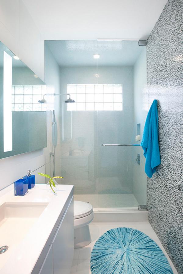 40個時尚實用的小浴室設計 设计之家