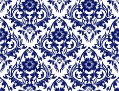藍色裝飾花紋背景矢量素材