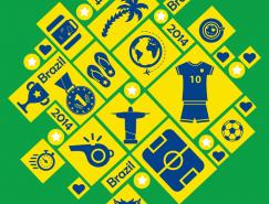 2014巴西世界杯元素圖標矢量素材