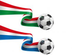 动感的国旗飘带足球矢量素材