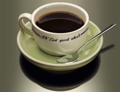 精致数量越来越多的咖啡杯PSD素材