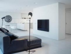 圣彼得堡89平米现代简约白色公寓设计