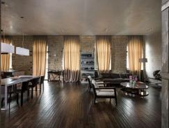 历史的质感与时尚的装饰:基辅128平米loft公寓设计