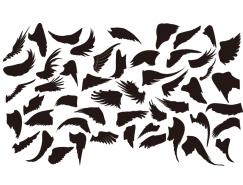 各种翅膀剪影矢量素材