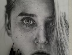 Monica Lee超逼真的铅笔画作品欣赏