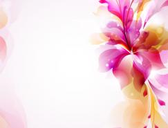 華麗的彩色花卉背景矢量素材