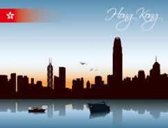 香港城市剪影矢量素材