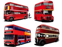 双层公共汽车矢量素材