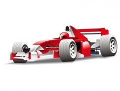 紅色F1賽車矢量素材