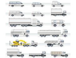 各種卡車商用車矢量素材