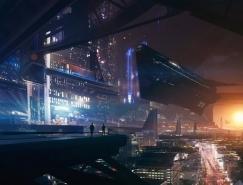 梦幻未来城市插画欣赏