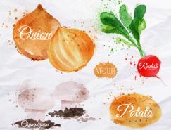 水彩蔬菜矢量素材(1)