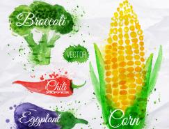 水彩蔬菜矢量素材(2)