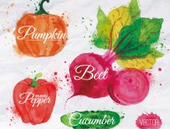 水彩蔬菜矢量素材(4)