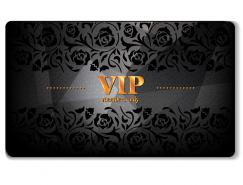 VIP貴賓金卡模板矢量素材
