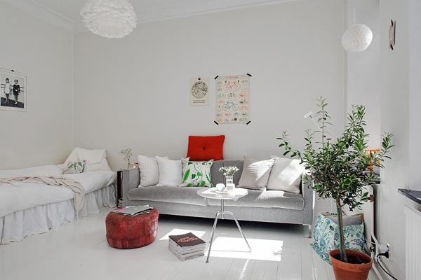 瑞典清新的33平米小公寓欣赏