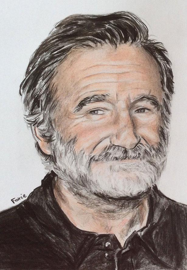 插画作品欣赏:致敬喜剧大师罗宾·威廉姆斯(Robin Williams)