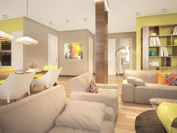 明亮的色彩搭配 时尚家居装修欣赏 设计之家