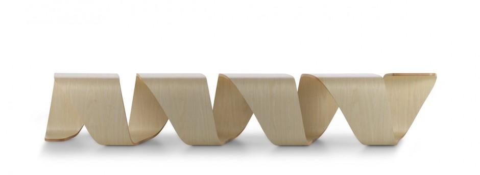 DNA螺旋概念长椅设计