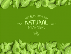 漂亮的綠葉背景矢量素材