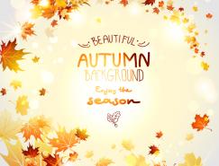 秋季红叶背景矢量素材(3)