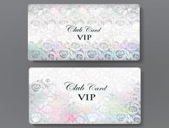 玫瑰背景的高檔VIP卡模板矢量素材