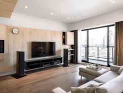 采用天然木材的现代风格公寓设计