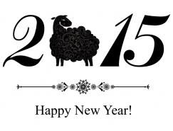 2015羊年創意字體矢量素材